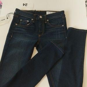 NWT rag & bone skinny jeans in sz 24